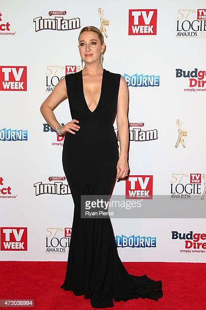 Asher Keddie arrives at the 57th Annual Logie Awards at Crown Palladium on May 3 2015 in Melbourne Australia