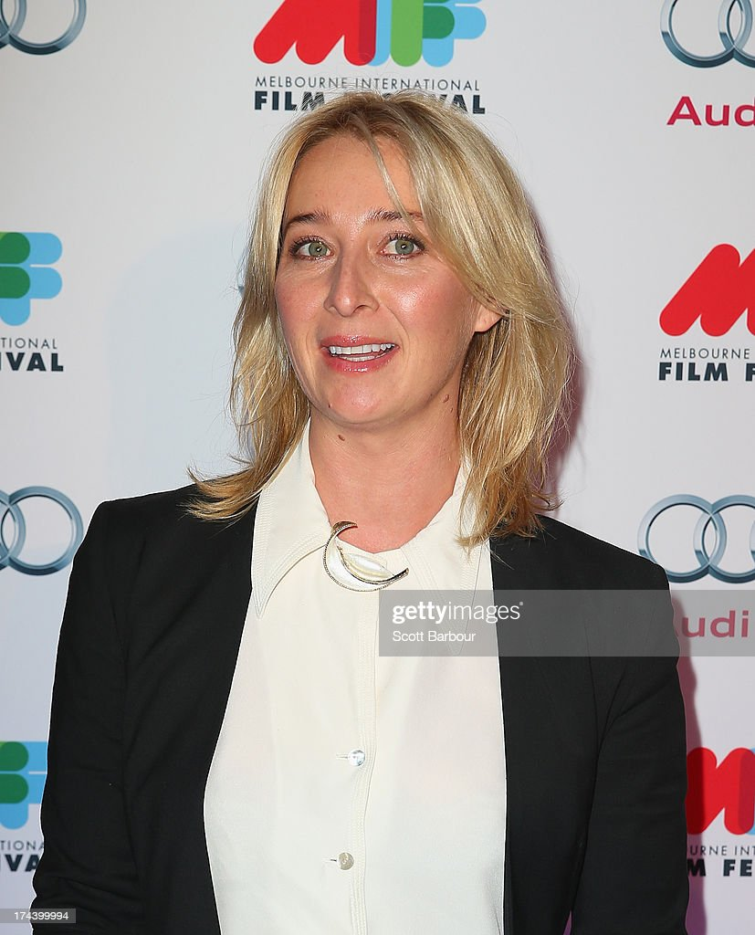 Asher Keddie arrives at the Australian premiere of 'I'm So Excited' on opening night of the Melbourne International Film Festival at Hamer Hall on July 25, 2013 in Melbourne, Australia.