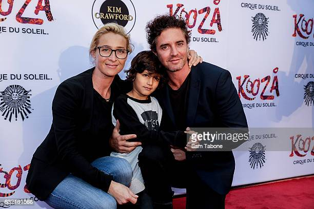 Asher Keddy and Famiy at the Cirque Du Soleil KOOZA Melbourne Premiere at Flemington Racecourse on January 20 2017 in Melbourne Australia