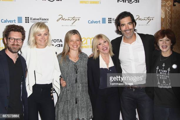 Asher Levin Malin Akerman Amy Smart Debbie Levin Carter Oosterhouse and Frances Fisher attend the EMA Impact Summit held at the Montage Beverly Hills...