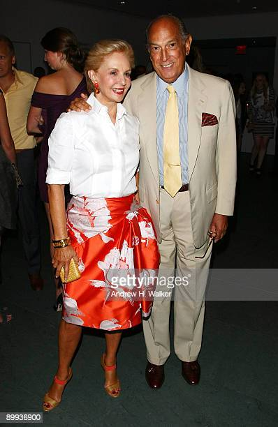 ashion designers Carolina Herrera and Oscar de la Renta attend the after party for the New York special screening of 'The September Issue' at The...