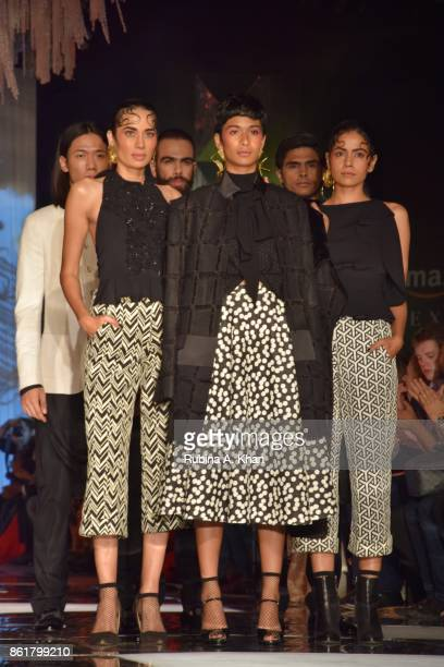 Ashish N Soni's pret collection at the grand finale of the Fashion Design Council of India's 30th edition of India Fashion Week Spring Summer 2018...