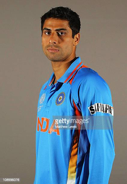 Ashish Nehra of India poses during a portrait session ahead of the 2011 ICC World Cup at the ITC Gardenia on February 11 2011 in Bangalore India