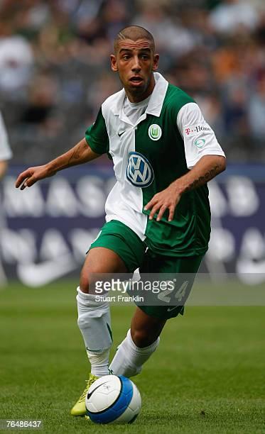 Ashkan Dejagah of Wolfsburg in action during the Bundesliga match between Hertha BSC Berlin and VfL Wolfsburg at the Olympic stadium on September 1...