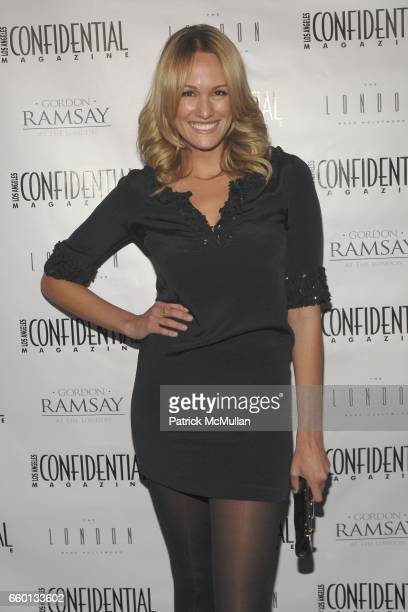 Ashlan Gorse attends Los Angeles Confidential Magazine Evening with Mickey Rourke at Gordon Ramsay At The London on January 12 2009 in West Hollywood...