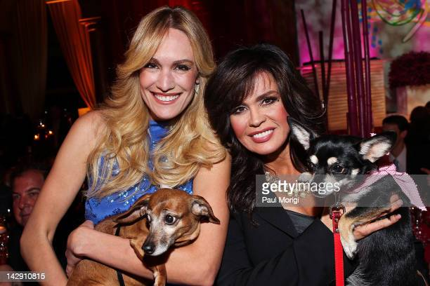Ashlan Gorse of E News and veteran singer actress author and TV show host Marie Osmond attend the 6th annual Fashion For Paws runway show at the...