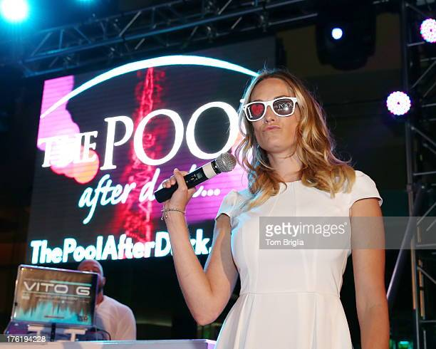 Ashlan Gorse visits The Pool After Dark at Harrah's Resort on Saturday August 10 2013 in Atlantic City New Jersey