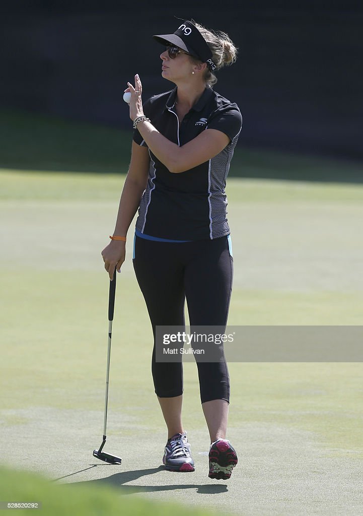 Ashlan Ramsey walks off the green on the 18th hole during the Yokohama Tire Classic on May 05, 2016 in Prattville, Alabama.