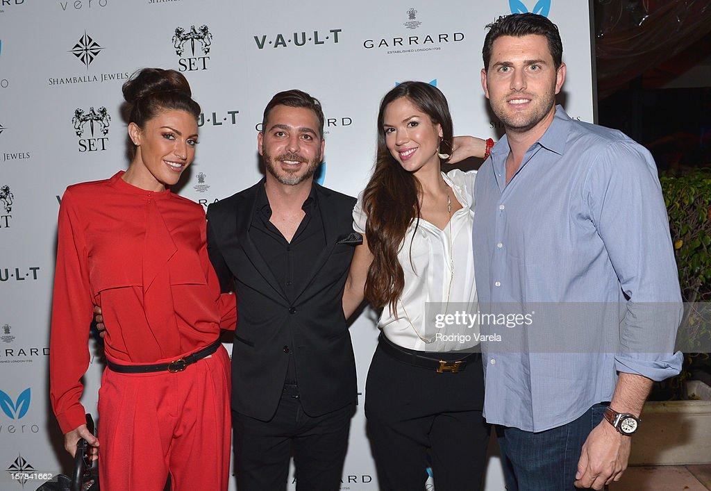 Ashlea Evans, Yakir Shoshan, Madeleine Wenthzel and David Dashe attend the V.A.U.L.T. Art Basel Party on December 6, 2012 in Miami, Florida.