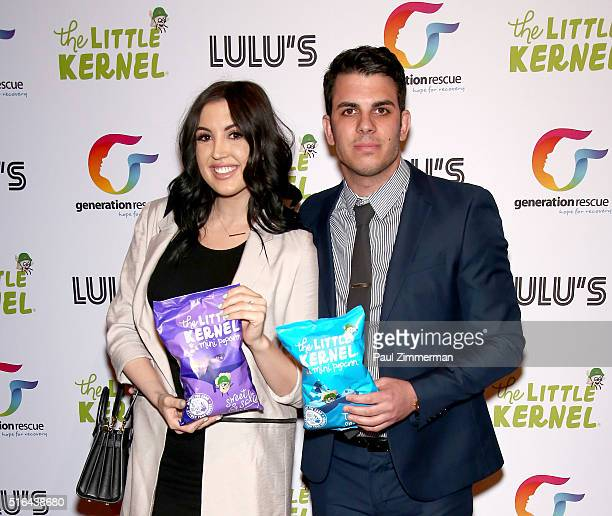 Ashlee Holmes daughter of RHONJ Jacqueline Laurita and fiance Pete Malleo attend the Chris Laurita Celebrates Launch of 'The Little Kernel' Mini...