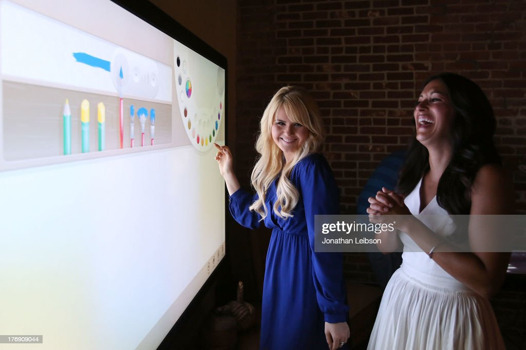 <a gi-track='captionPersonalityLinkClicked' href=/galleries/search?phrase=Ashlee+Keating&family=editorial&specificpeople=6165519 ng-click='$event.stopPropagation()'>Ashlee Keating</a> and Angelique Cabral attend the Microsoft & Friends To Mankind Present: 18for18 Benefiting The Somaly Mam Foundation At The Microsoft Experience - Venice Beach on August 18, 2013 in Venice, California.