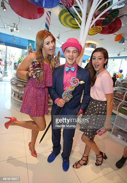 Ashlee Keating and Emma Fuhrmann attend Dylan's Candy Bar Candy Girl Collection LA Launch Event at Dylan's Candy Bar on May 17 2014 in Los Angeles...