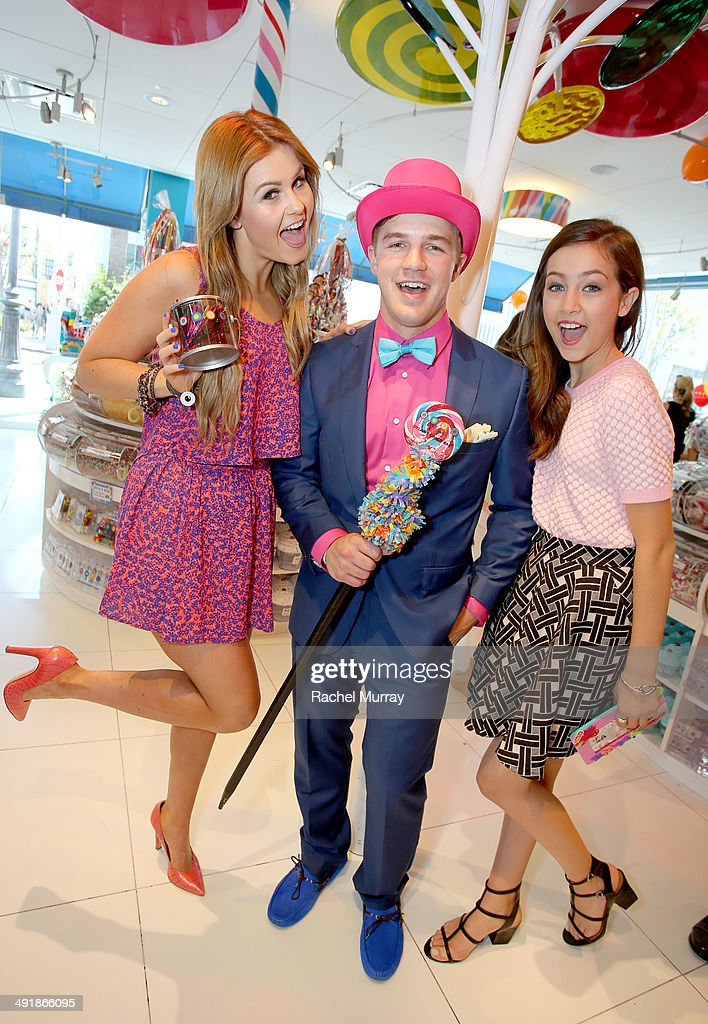 Ashlee Keating (L) and Emma Fuhrmann (R) attend Dylan's Candy Bar Candy Girl Collection LA launch event at Dylan's Candy Bar on May 17, 2014 in Los Angeles, California.