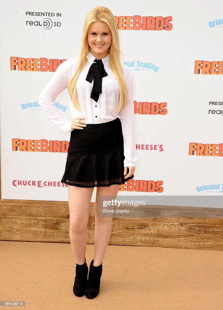 Ashlee Keating arrives at the 'Free Birds' - Los Angeles Premiere at Westwood Village Theatre on October 13, 2013 in Westwood, California.