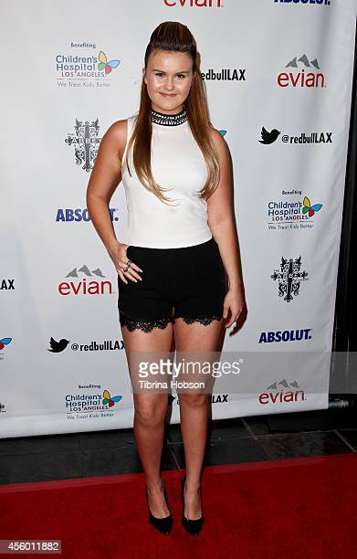 Ashlee Keating attends The Abbey Food Bar's 9th annual Christmas in September event at The Abbey on September 23 2014 in West Hollywood California