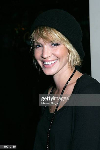 Ashlee Scott poses at the Dean and Davis Factor Paul DeArmas and Michael Baruch Mr Chow Dinner Ð Spring 2008 Fashion Week on October 11 2007 in...