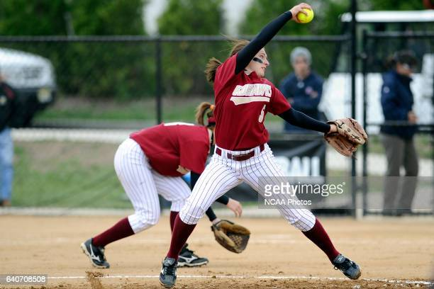 Ashlee Simon of Coe College throws a pitch during the Division III Women's Softball Championship held at the Montclair State University Softball...