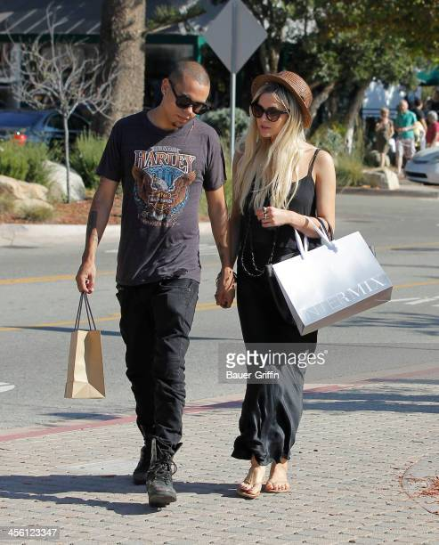 Ashlee Simpson and boyfriend Evan Ross shop in Malibu on September 14 2013 in Los Angeles California