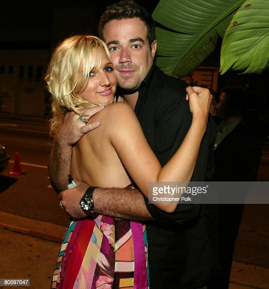 Ashlee Simpson and Carson Daly