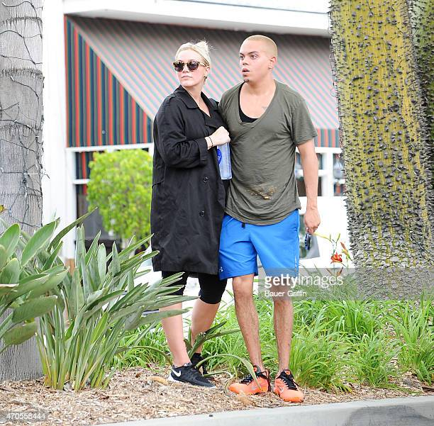 Ashlee Simpson and Evan Ross are seen in Los Angeles on April 21 2015 in Los Angeles California