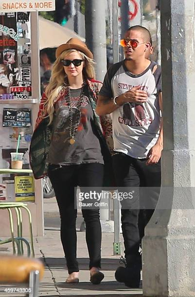 Ashlee Simpson and Evan Ross are seen on December 29 2013 in Los Angeles California