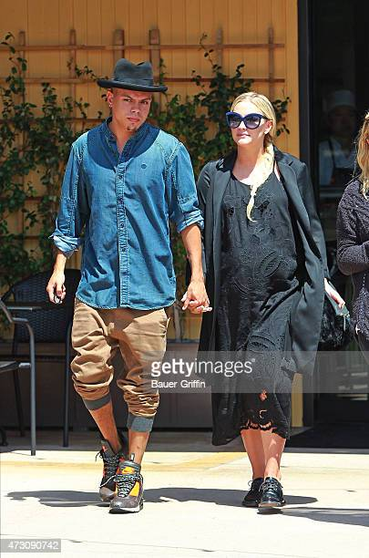 Ashlee Simpson and husband Evan Ross are seen on May 12 2015 in Los Angeles California