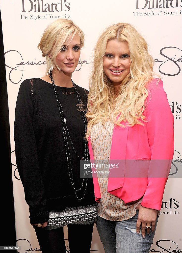 Ashlee Simpson and Jessica Simpson visit Dillard's at International Plaza In Support Of the Jessica Simpson Collection on November 17, 2012 in Tampa, Florida.