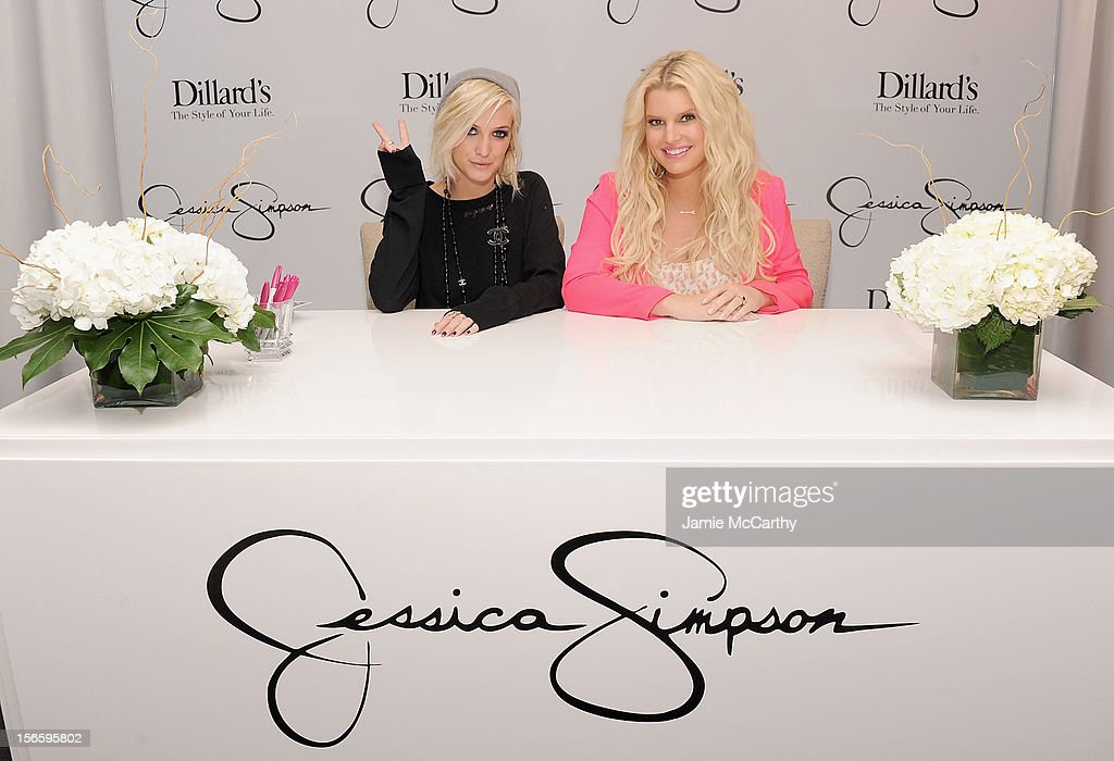 <a gi-track='captionPersonalityLinkClicked' href=/galleries/search?phrase=Ashlee+Simpson&family=editorial&specificpeople=201809 ng-click='$event.stopPropagation()'>Ashlee Simpson</a> and <a gi-track='captionPersonalityLinkClicked' href=/galleries/search?phrase=Jessica+Simpson+-+Marca+de+moda&family=editorial&specificpeople=171513 ng-click='$event.stopPropagation()'>Jessica Simpson</a> visit Dillard's at International Plaza In Support Of the <a gi-track='captionPersonalityLinkClicked' href=/galleries/search?phrase=Jessica+Simpson+-+Marca+de+moda&family=editorial&specificpeople=171513 ng-click='$event.stopPropagation()'>Jessica Simpson</a> Collection on November 17, 2012 in Tampa, Florida.