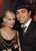 Ashlee Simpson and Wilmer Valderrama Exclusive during Ashlee Simpson's CD Release Party at O Bar in Hollywood California United States