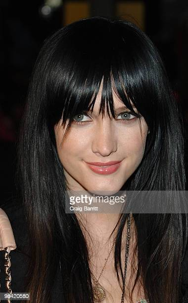 Ashlee Simpson arrives at Banksy's 'Exit Through The Gift Shop' Los Angeles Premiere on April 12 2010 in Los Angeles California