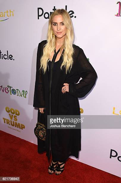 Ashlee Simpson arrives at 'GOD vs TRUMP Only Love Wins' Movie Premiere on November 7 2016 in Los Angeles California