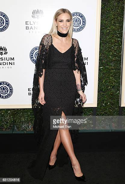 Ashlee Simpson arrives at The Art of Elysium celebrating the 10th Anniversary held at Red Studios on January 7 2017 in Los Angeles California
