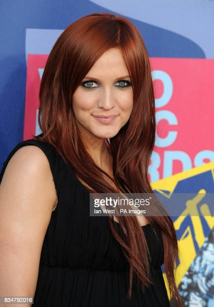 Ashlee Simpson arrives for the MTV Video Music Awards 2008 at Paramount Studios Hollywood Los Angeles California