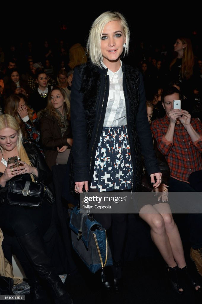Ashlee Simpson attends the Rebecca Minkoff Fall 2013 fashion show during Mercedes-Benz Fashion at The Theatre at Lincoln Center on February 8, 2013 in New York City.