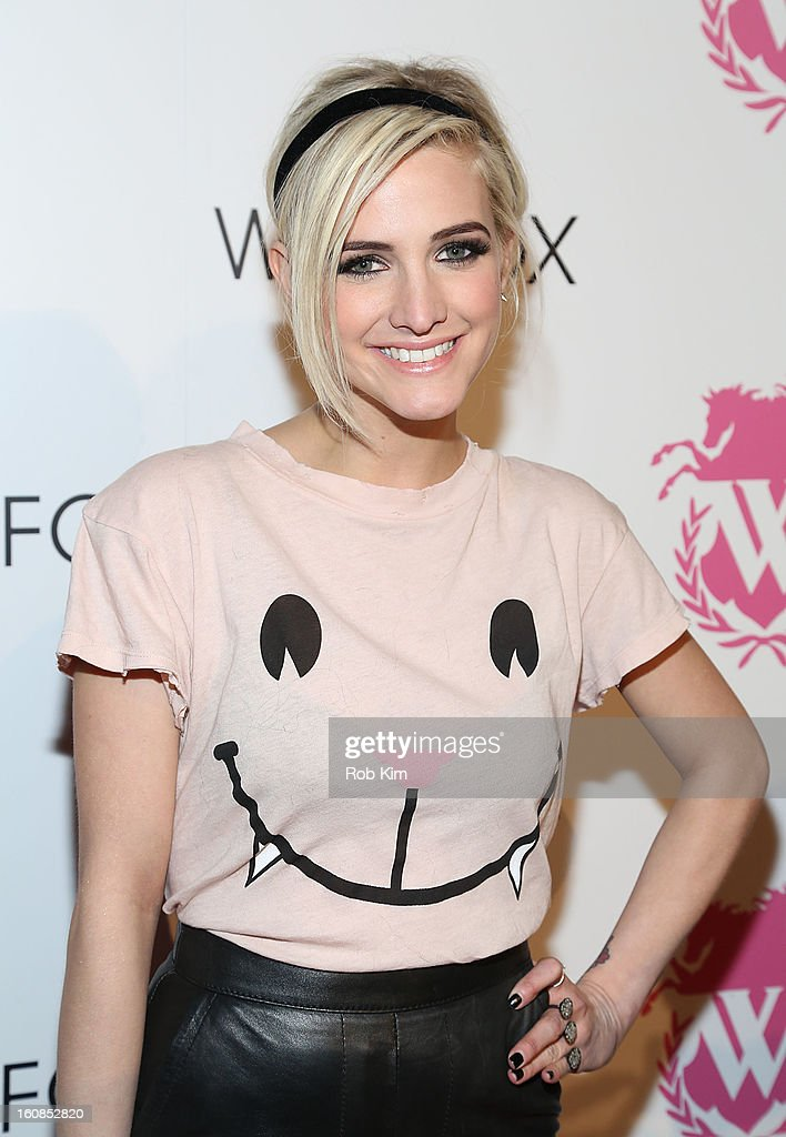 <a gi-track='captionPersonalityLinkClicked' href=/galleries/search?phrase=Ashlee+Simpson&family=editorial&specificpeople=201809 ng-click='$event.stopPropagation()'>Ashlee Simpson</a> attends the Wildfox presentation during Fall 2013 Mercedes-Benz Fashion Week at Capitale on February 6, 2013 in New York City.