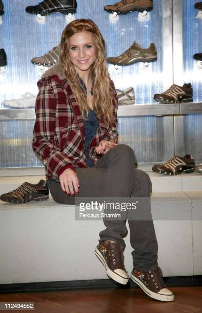 Ashlee Simpson during Ashlee Simpson Launches Skechers Campaign Photocall at Skechers in London Great Britain