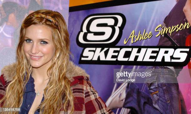 Ashlee Simpson during Ashlee Simpson Launches Skechers Campaign Photocall at Skechers Store in London Great Britain