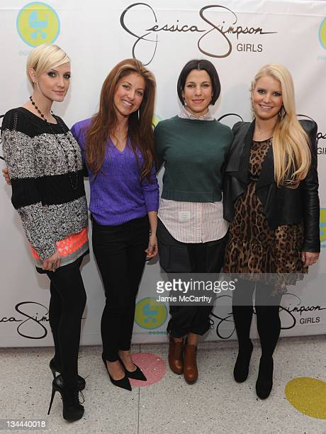 Ashlee Simpson Dylan Lauren Jessica Seinfeld and Jessica Simpson attend the launch of Jessica Simpson Girls at Dylan's Candy Bar on December 1 2011...