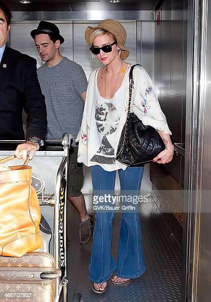 Ashlee Simpson is seen at Los Angeles International Airport on July 01 2012 in Los Angeles California