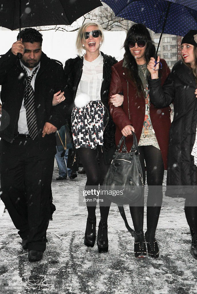 <a gi-track='captionPersonalityLinkClicked' href=/galleries/search?phrase=Ashlee+Simpson&family=editorial&specificpeople=201809 ng-click='$event.stopPropagation()'>Ashlee Simpson</a> is seen during Fall 2013 Mercedes-Benz Fashion Week at Lincoln Center for the Performing Arts on February 8, 2013 in New York City.