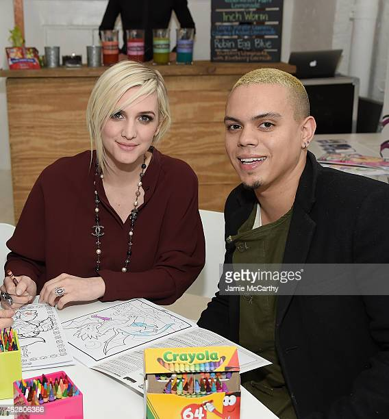 Ashlee Simpson Ross and Evan Ross attend 'Color Alive' Launch Event Hosted By Ashlee Simpson Ross at Open House Gallery on February 5 2015 in New...