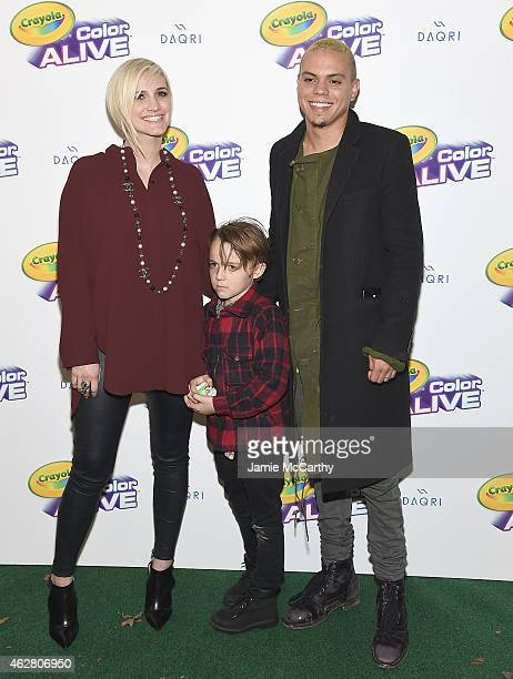 Ashlee Simpson Ross Bronx Wentz and Evan Ross attend 'Color Alive' Launch Event Hosted By Ashlee Simpson Ross at Open House Gallery on February 5...