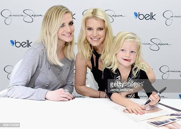 Ashlee Simpson RossJessica Simpson both wearing Jessica Simpson Collection with Maxwell Drew Johnson wearing Jessica Simpson Girls attend Jessica...