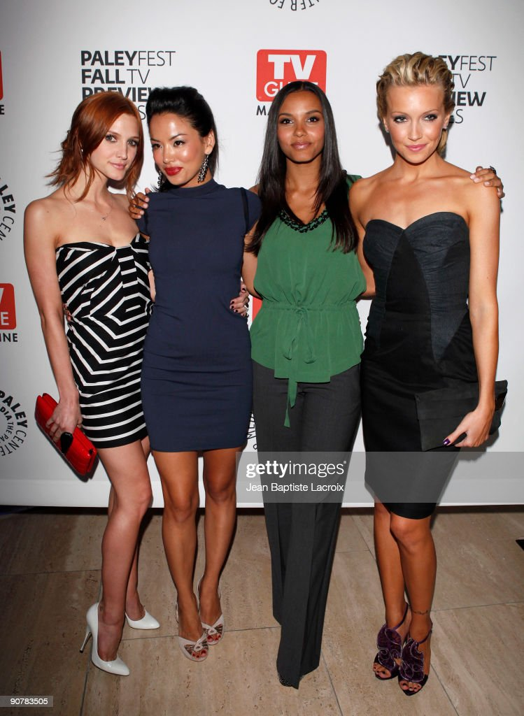 Ashlee SimpsonWentz Stephanie Jacobsen Jessica Lucas and Katie Cassidy arrive at The PaleyFest and TV Guide Magazine's The CW Fall TV Preview Party...
