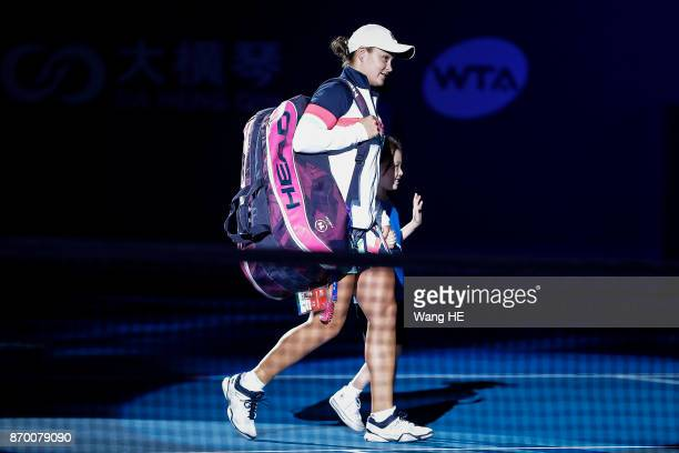 Ashlei Barty of Australia walks to the court prior to Semifinal match of the WTA Elite Trophy Zhuhai 2017 against Coco Vandeweghe of USA at Hengqin...