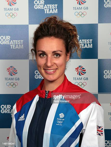 Ashleigh Ball of Team GB Hockey pictured during the Team GB kitting out event at Loughborough University on July 11 2012 in Loughborough England