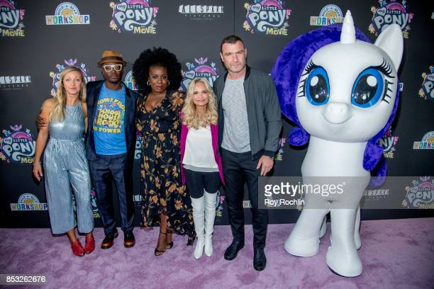 Ashleigh BallTaye Diggs Uzo Aduba Kristin Chenoweth and Liev Schreiber attend 'My Little Pony The Movie' New York screening at AMC Lincoln Square...