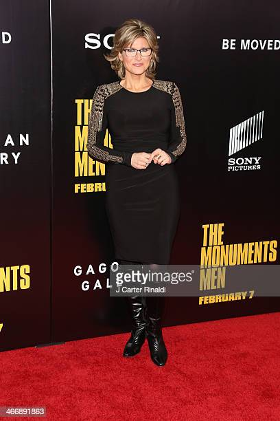Ashleigh Banfield attends 'The Monuments Men' premiere at Ziegfeld Theater on February 4 2014 in New York City New York