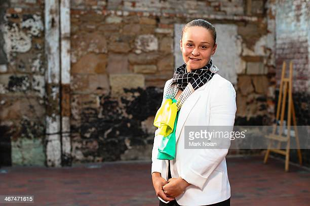 Ashleigh Barty of Australia poses for a portrait before the official dinner ahead of the Fed Cup Tie between Australia and Russia on February 6 2014...