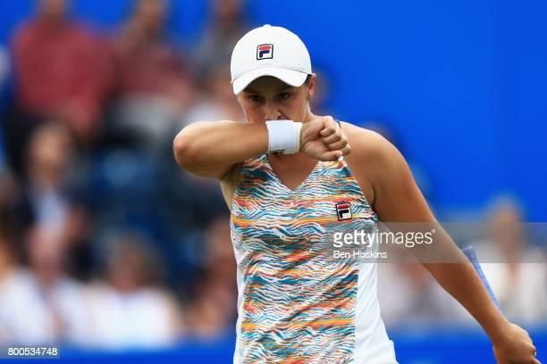 Ashleigh Barty of Australia reacts during her semi final match against Garbine Muguruza day six of the Aegon Classic Birmingham at Edgbaston Priory...